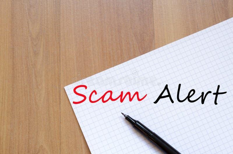 Concetto di allarme di Scam immagine stock libera da diritti