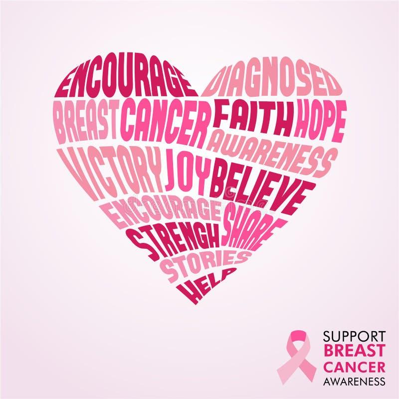 Concetto di amore di rosa di mese di consapevolezza del cancro al seno royalty illustrazione gratis