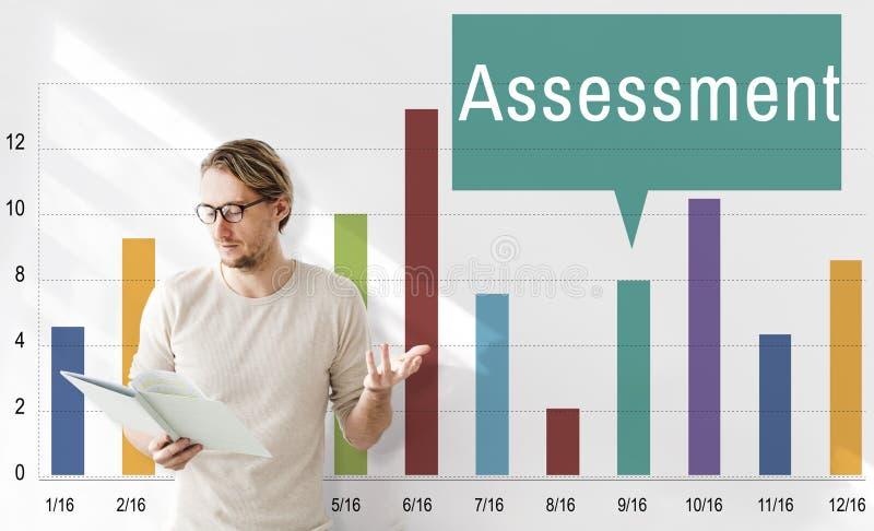 Concetto di analisi di valutazione del controllo di valutazione immagini stock