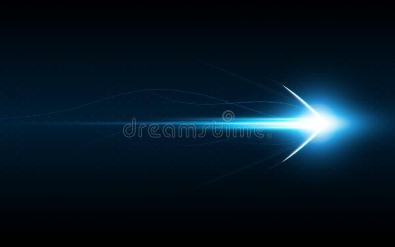 Concetto di andata dell'innovazione di tecnologia di velocità di simbolo astratto della freccia royalty illustrazione gratis