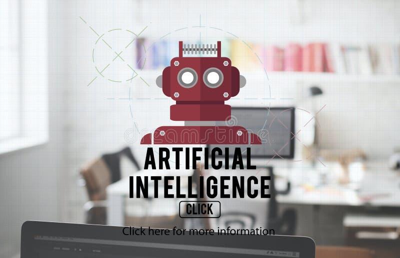 Concetto di Android di robotica di AI del cyborg del robot fotografie stock libere da diritti