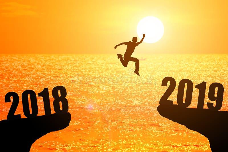 concetto 2019 di anno dei nws fotografia stock libera da diritti