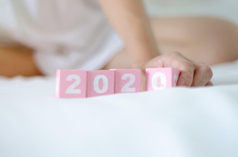 Concetto 2020 di anno immagini stock libere da diritti