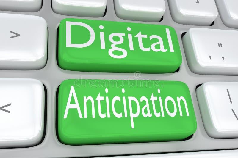 Concetto di anticipazione di Digital illustrazione di stock