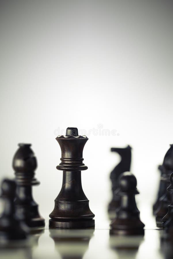 Concetto di anticipazione di rischio, gioco di scacchi immagine stock libera da diritti