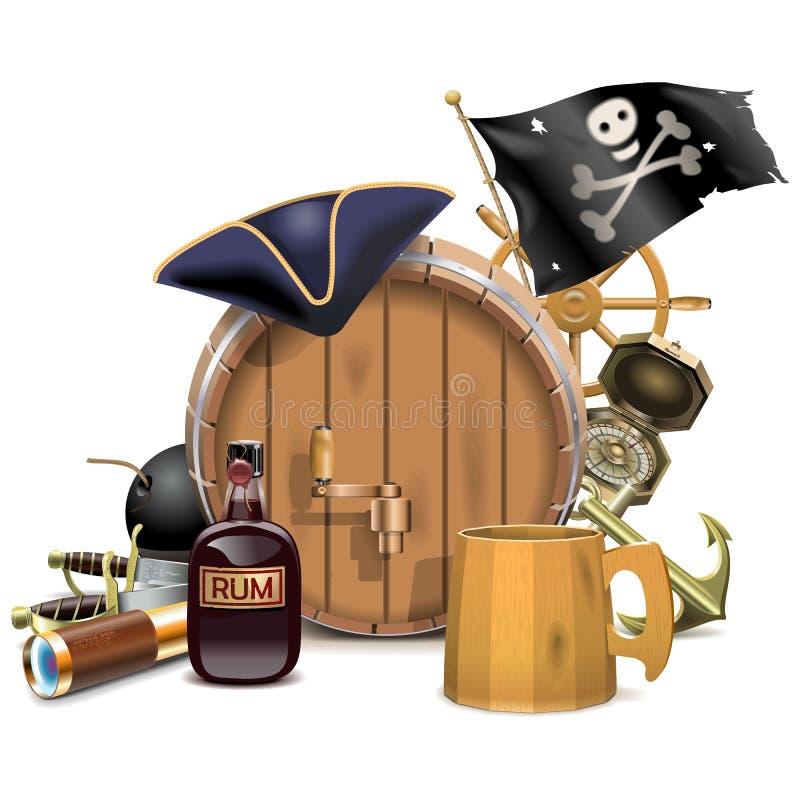 Concetto di Antivari del pirata di vettore illustrazione vettoriale