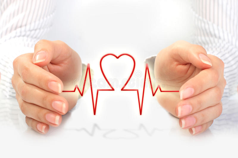 Concetto di assicurazione contro le malattie. immagine stock