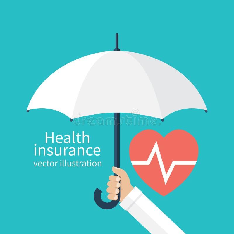 Concetto di assicurazione contro le malattie illustrazione vettoriale