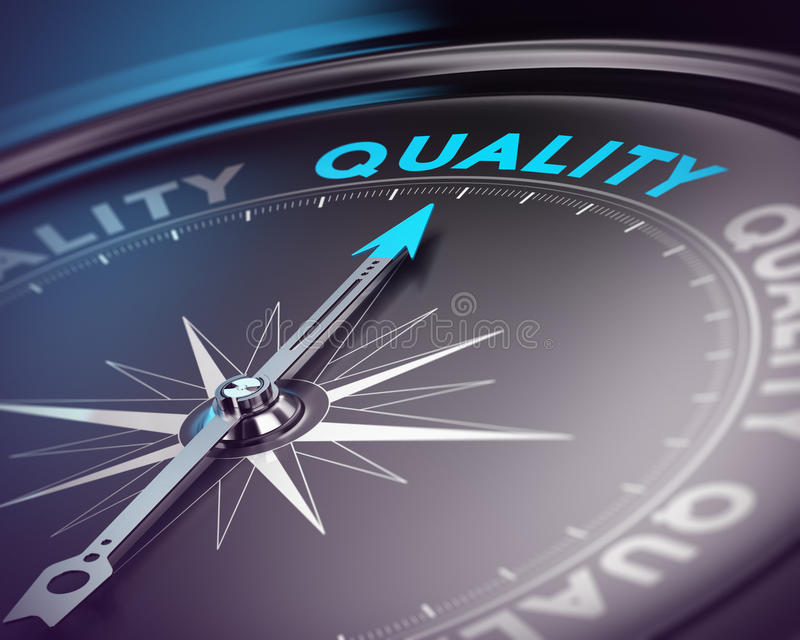 Concetto di assicurazione di qualità illustrazione di stock
