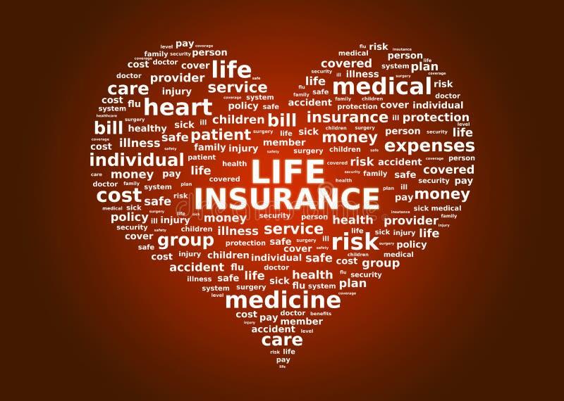 Concetto di assicurazione sulla vita illustrazione vettoriale