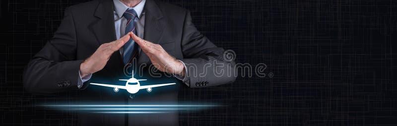 Concetto di assicurazione di viaggio fotografia stock libera da diritti