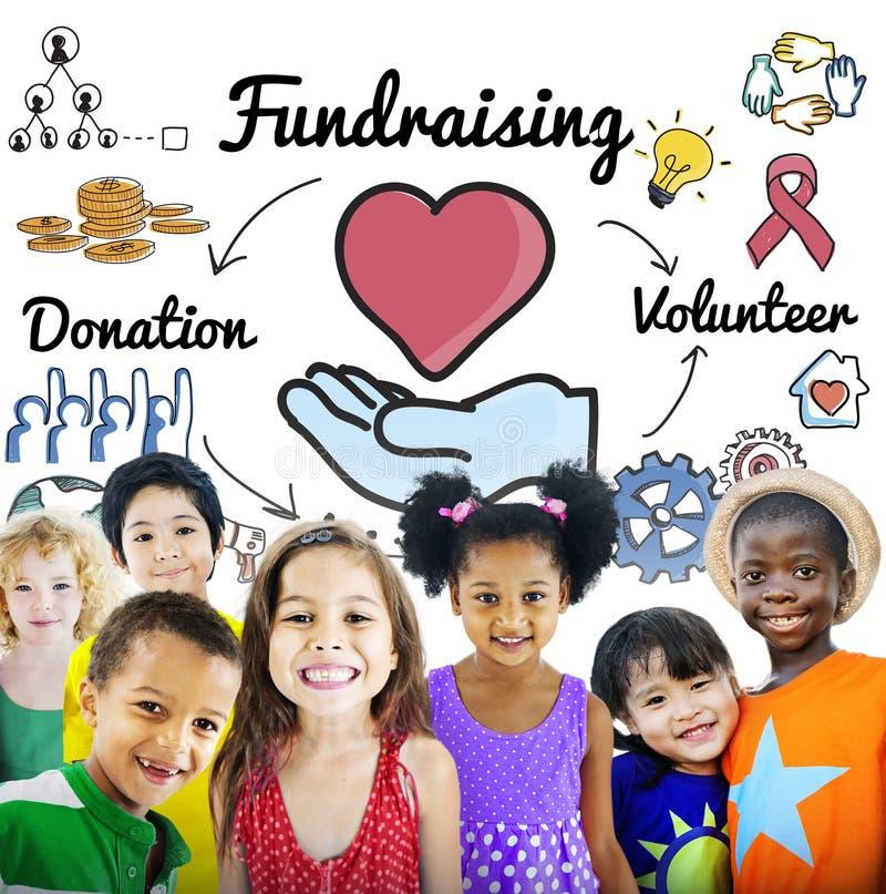 Concetto di assistenza sociale di carità del cuore di donazione di raccolta di fondi fotografia stock libera da diritti