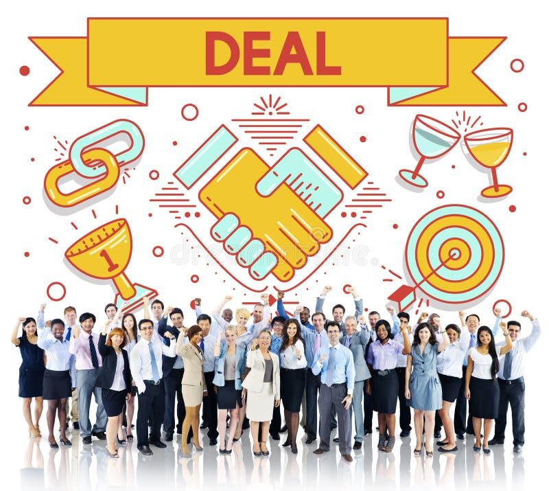 Concetto di associazione di strategia di soluzione del contratto di affare immagini stock