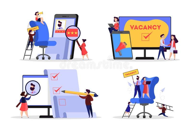 Concetto di assunzione Idea di occupazione e dell'essere umano royalty illustrazione gratis