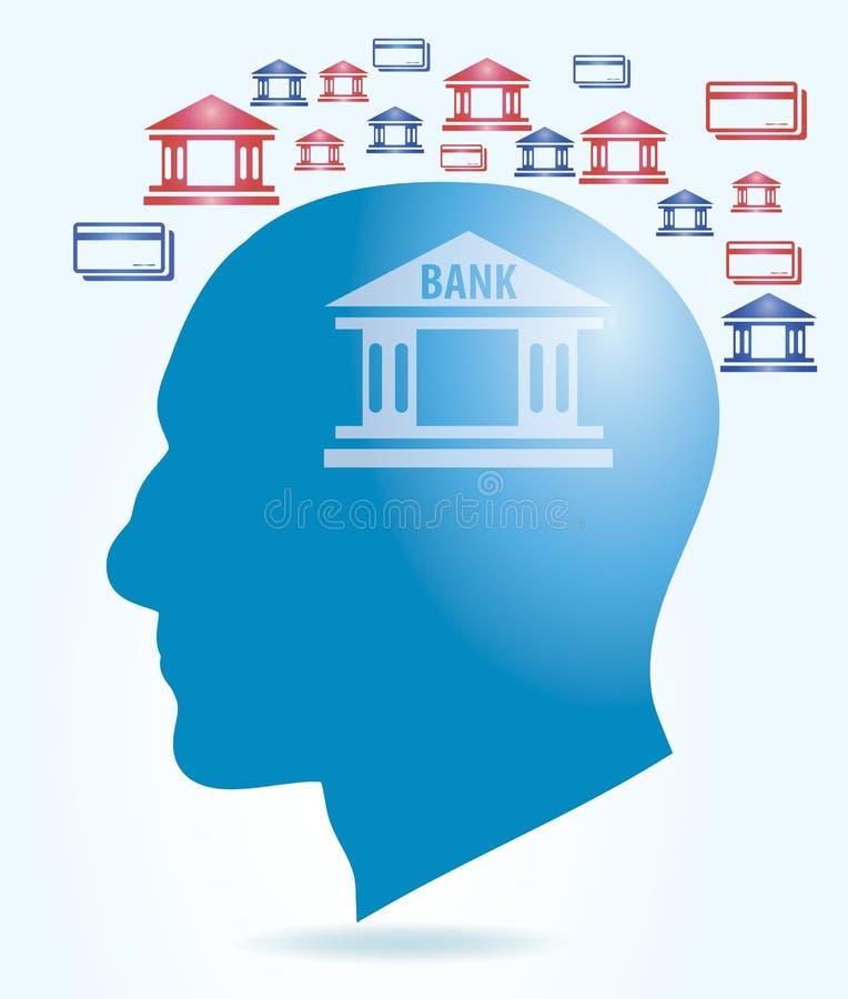 Concetto di attività bancarie illustrazione di stock