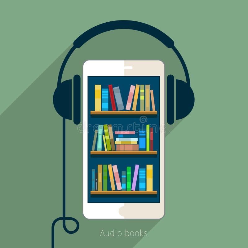 Concetto di audio libro royalty illustrazione gratis