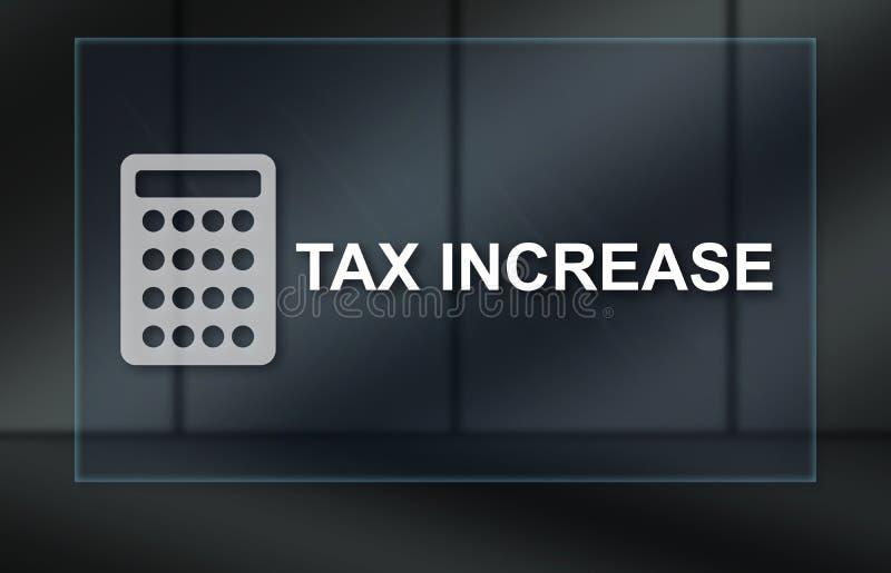 Concetto di aumento di imposta illustrazione di stock