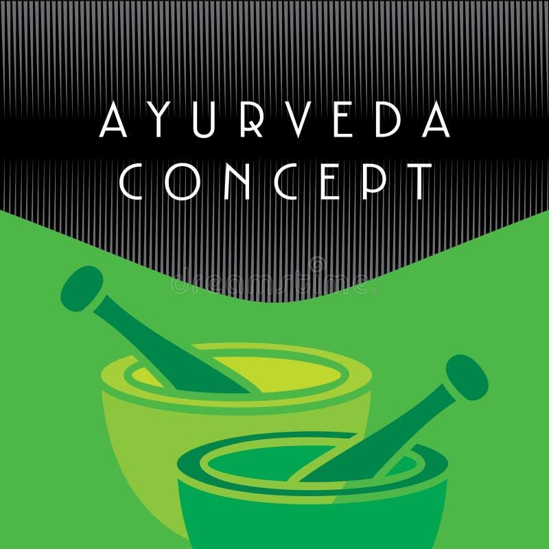 Concetto di Ayurveda illustrazione vettoriale