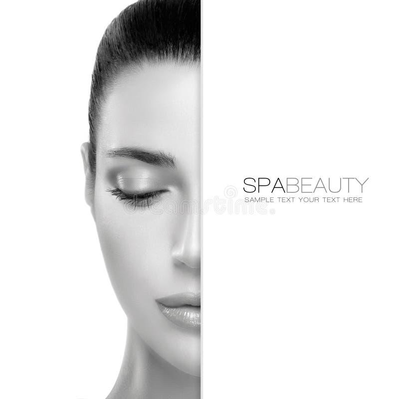 Concetto di bellezza e di Skincare della stazione termale progettazione del modello fotografie stock