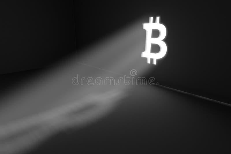 Concetto di Bitcoin illustrazione vettoriale