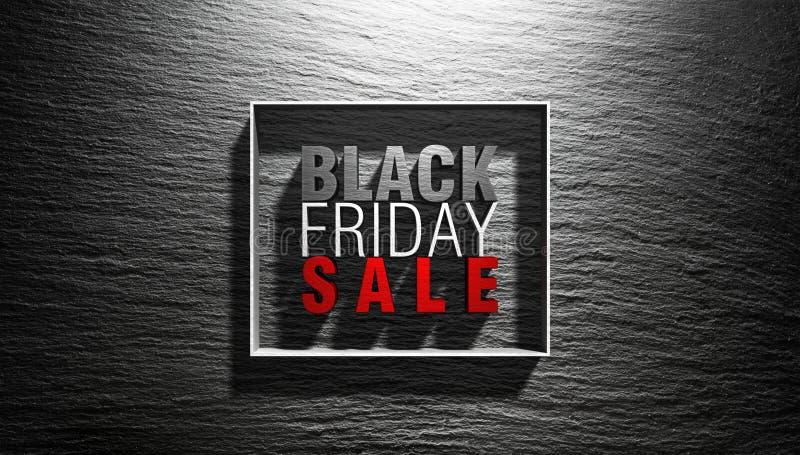 Concetto di Black Friday - testo 3D fotografia stock