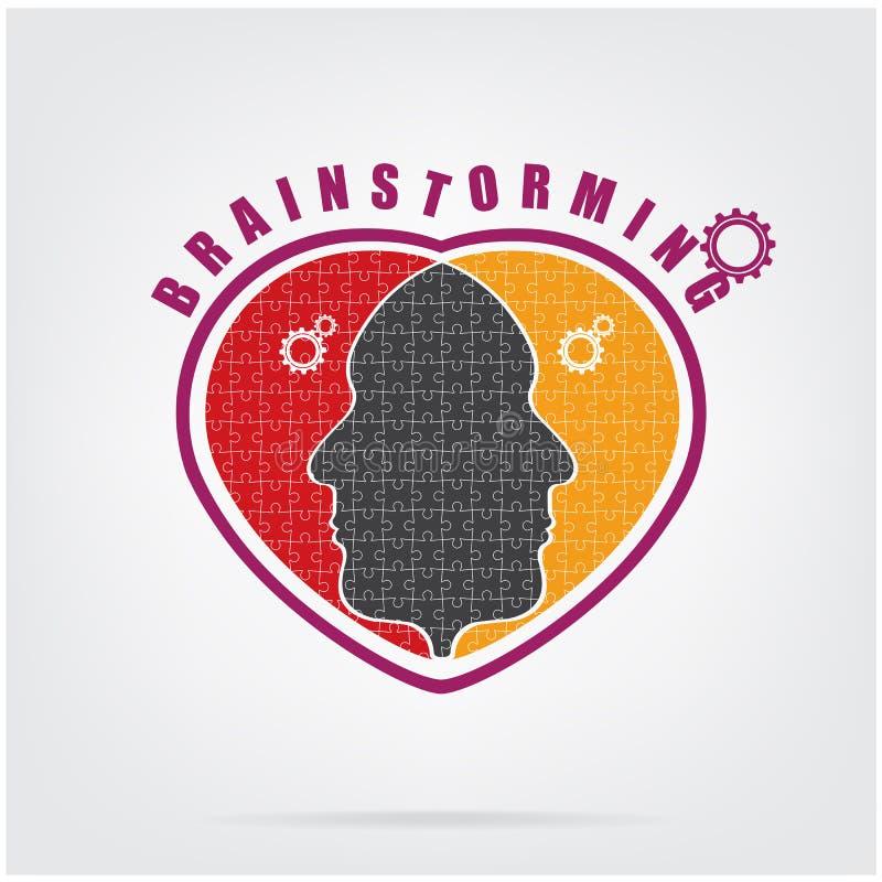 Concetto di 'brainstorming', segno di lavoro di squadra royalty illustrazione gratis
