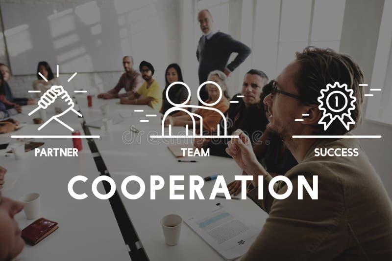 Concetto di Business Collaboration Teamwork Corporation fotografie stock