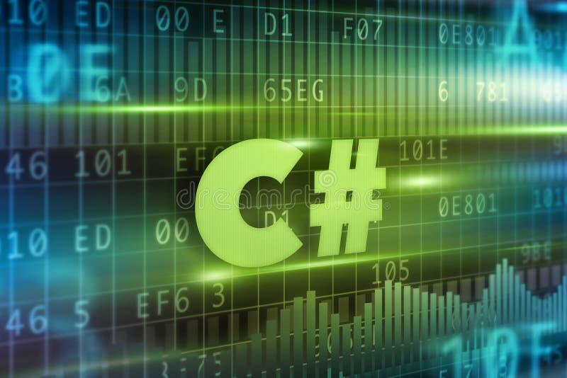 Concetto di C# illustrazione di stock