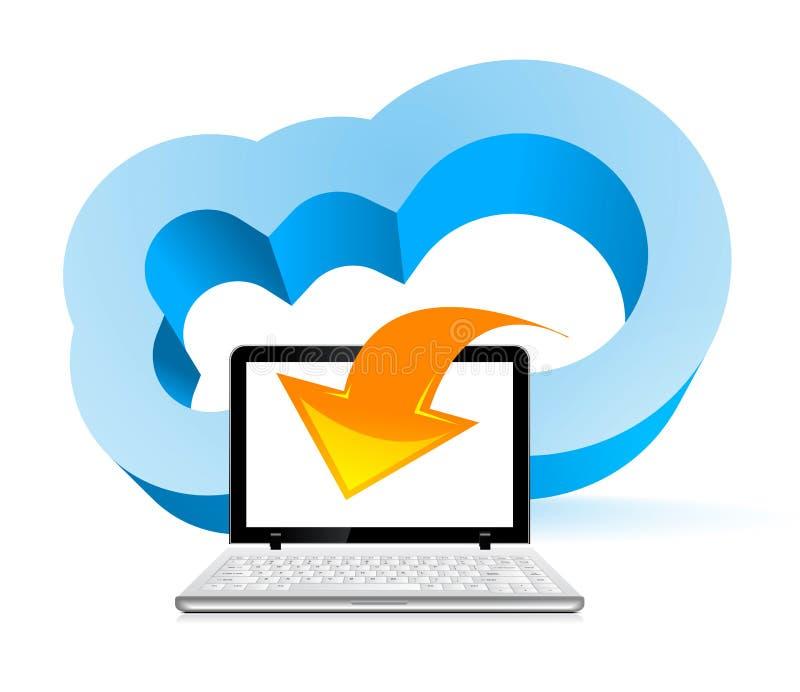 Concetto di calcolo della nube illustrazione di stock