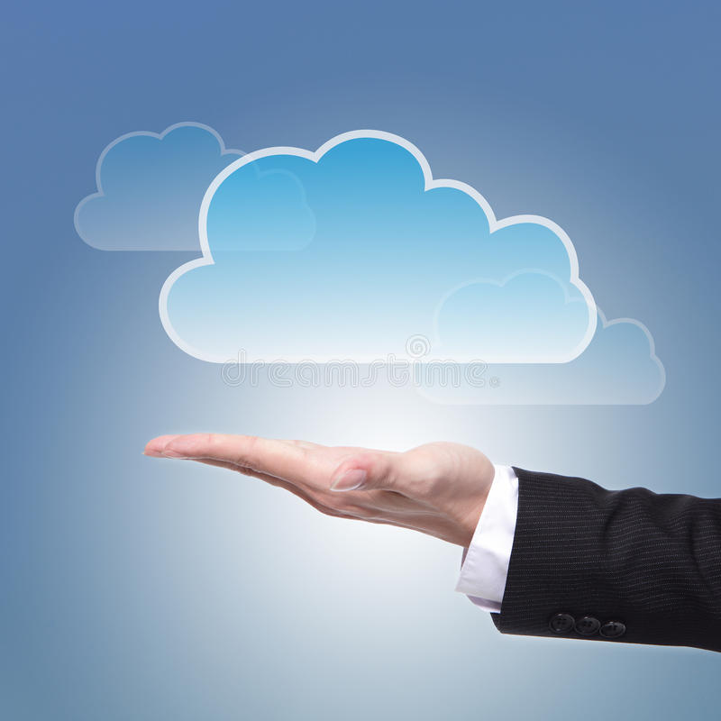 Concetto di calcolo della nuvola fotografia stock libera da diritti