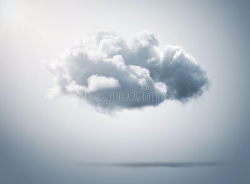 Concetto di calcolo della nuvola su fondo immagini stock