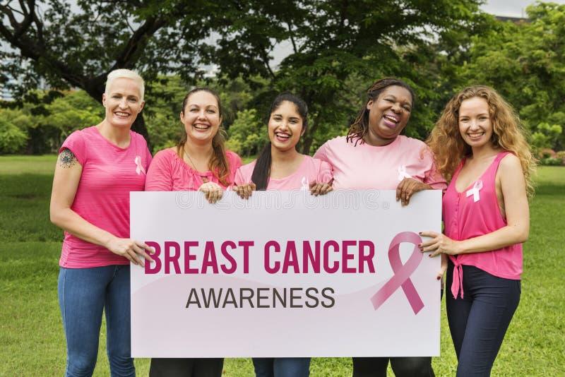 Concetto di carità di sostegno del cancro al seno delle donne fotografia stock