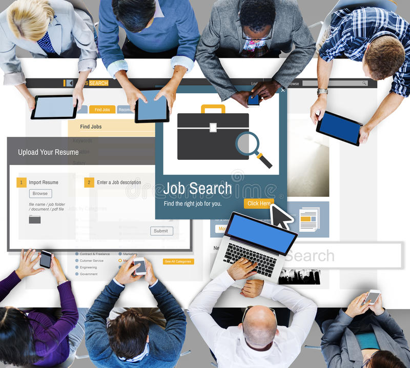 Concetto di carriera di Job Serch Career Recruitment Occupation immagini stock libere da diritti