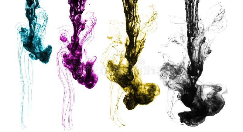 Concetto di colori di CMYK fotografia stock