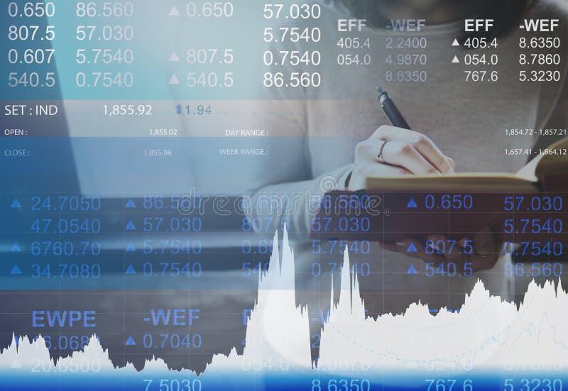Concetto di commercio del mercato di attività bancarie di valuta di finanza fotografia stock libera da diritti
