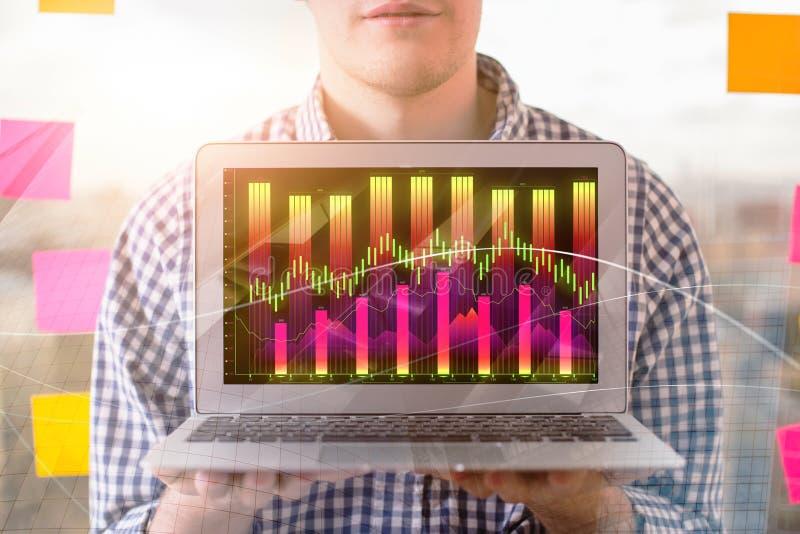 Concetto di commercio e di presentazione immagine stock