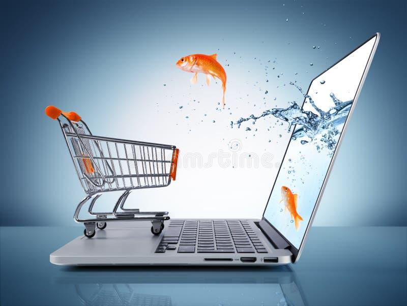 Concetto di commercio elettronico fotografia stock