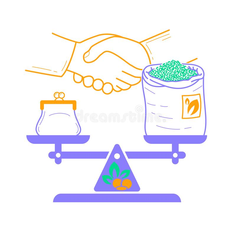 Concetto di commercio equo e solidale royalty illustrazione gratis