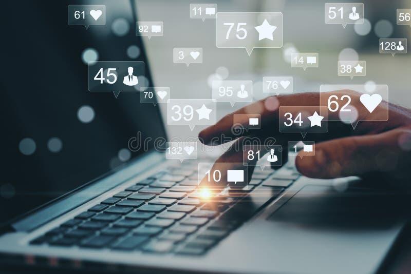 Concetto di comunicazione e della rete sociale immagini stock libere da diritti