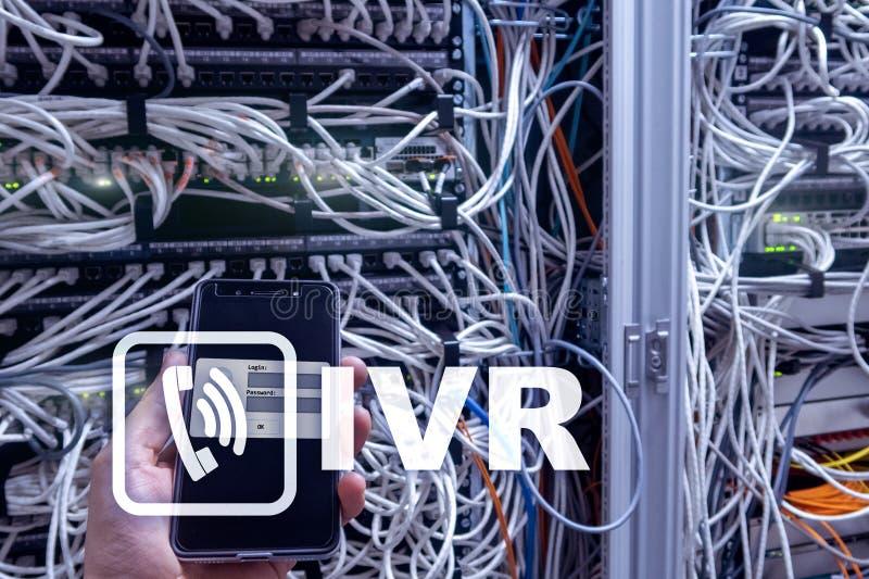 Concetto di comunicazione di risposta vocale interattiva di IVR immagine stock libera da diritti