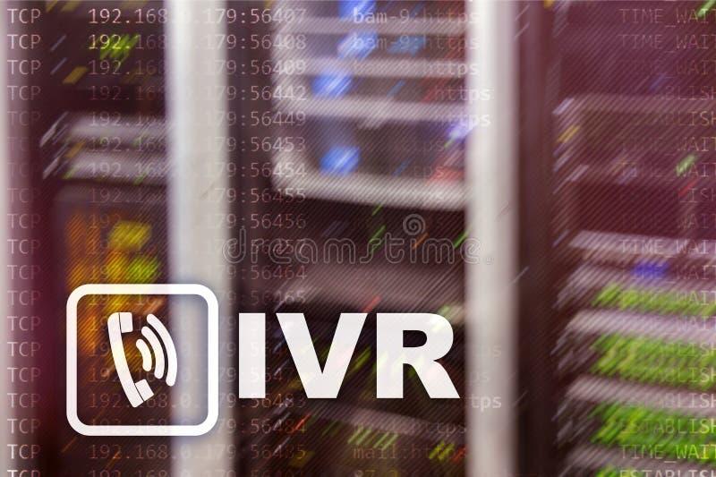 Concetto di comunicazione di risposta vocale interattiva di IVR fotografia stock libera da diritti