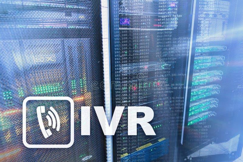 Concetto di comunicazione di risposta vocale interattiva di IVR cener fotografia stock libera da diritti