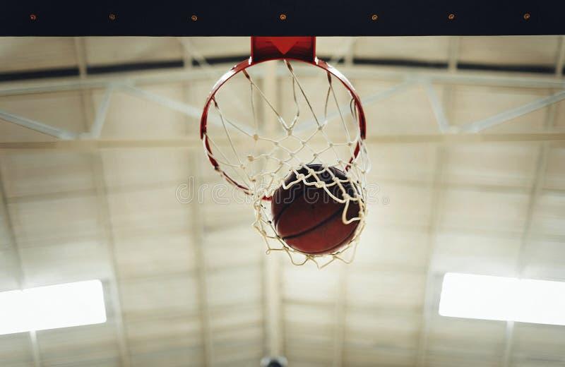 Concetto di conquista della concorrenza del punto di pallacanestro fotografie stock