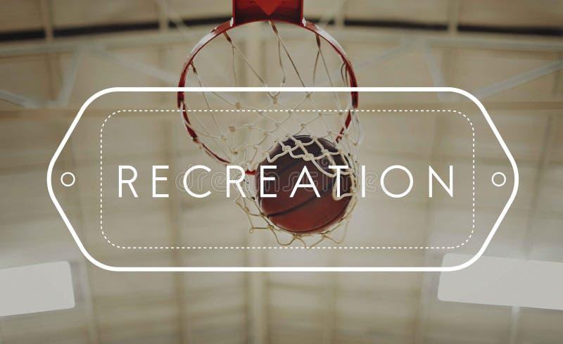 Concetto di conquista della concorrenza del punto di pallacanestro immagini stock
