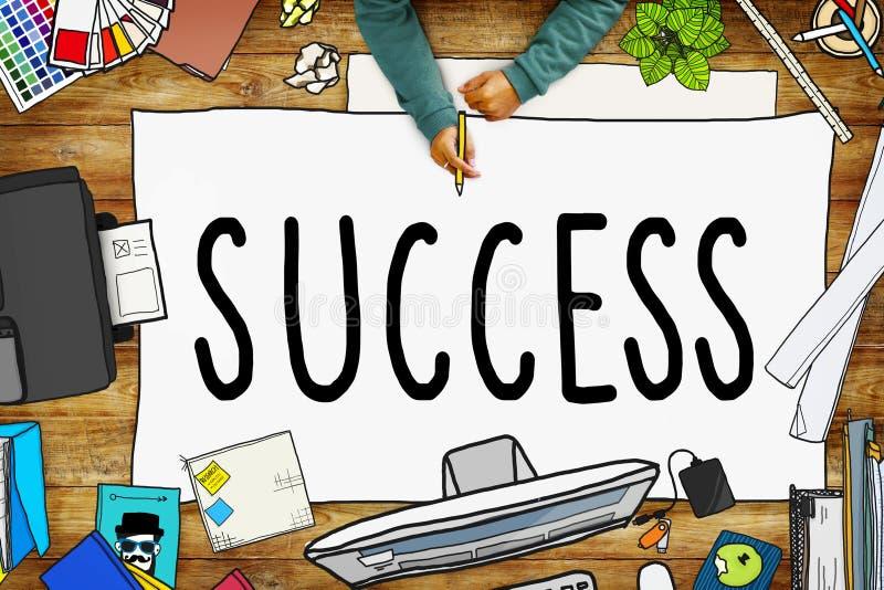 Concetto di conquista di motivazione di missione della concorrenza di successo royalty illustrazione gratis