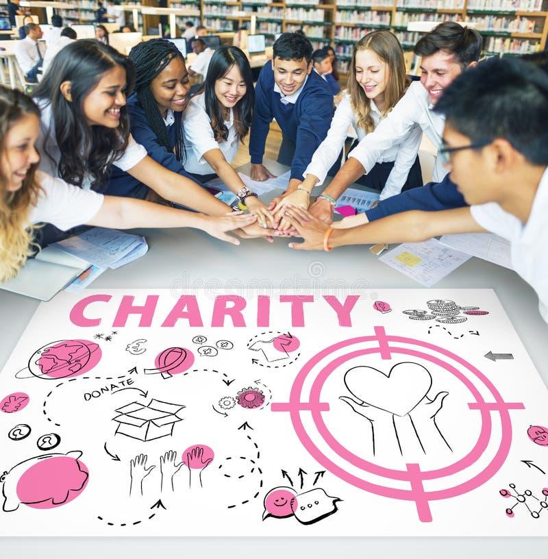 Concetto di consapevolezza di donazione dell'aiuto di carità fotografie stock libere da diritti