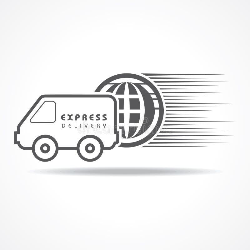 Concetto di consegna precisa per aumento la vendita illustrazione vettoriale