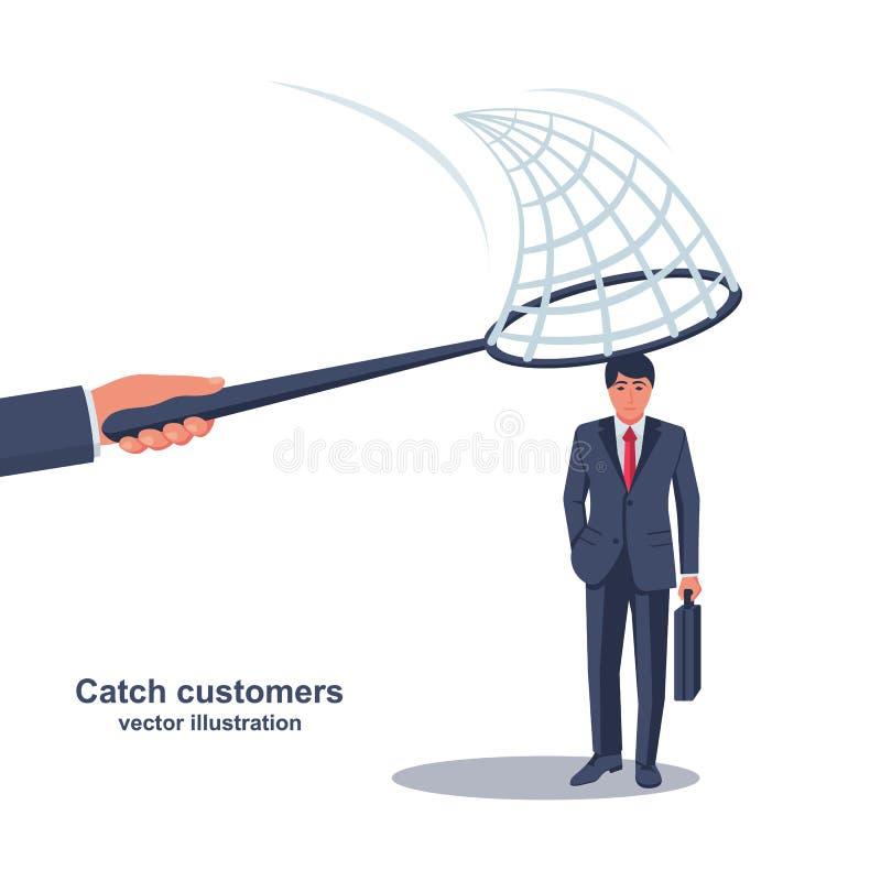 Concetto di conservazione del cliente royalty illustrazione gratis