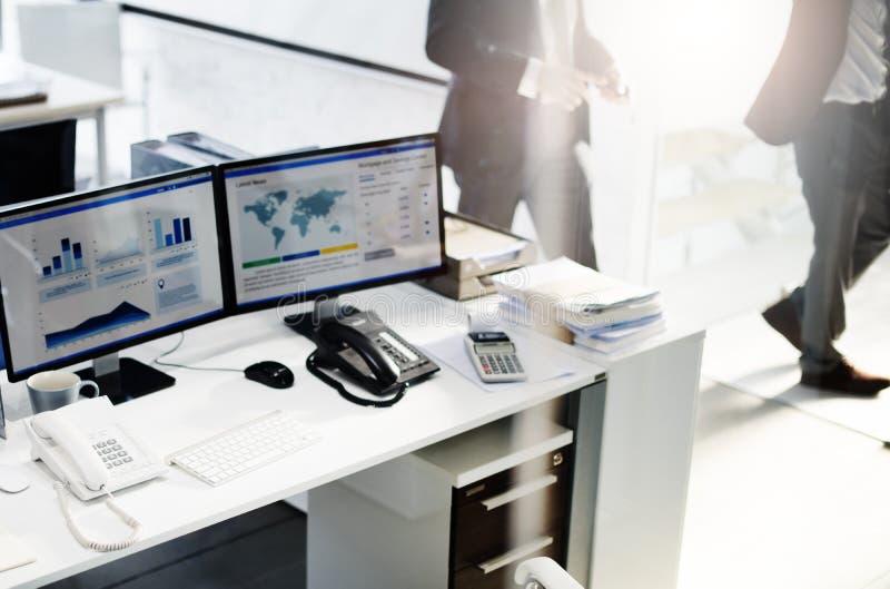 Concetto di contabilità di affari di strategia del posto di lavoro di contabilità fotografie stock