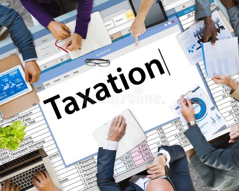 Concetto di contabilità di economia di finanza di pagamento di tasse immagine stock libera da diritti
